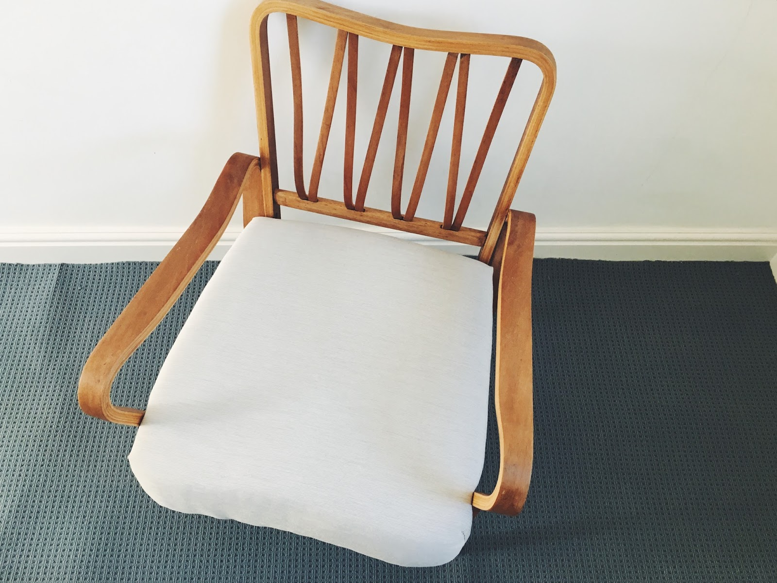 how to re-cover a nursing chair