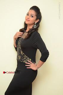 Telugu Actress Manasa Manohar Stills in Black Long Dress at Naku Nene Thopu Turumu Trailer Launch  0004.JPG