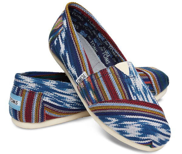 Textile Arts Now: Slip-ons with interesting textiles by Toms