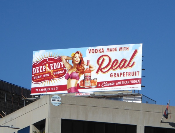 Deep Eddy Ruby Red Grapefruit Vodka billboard