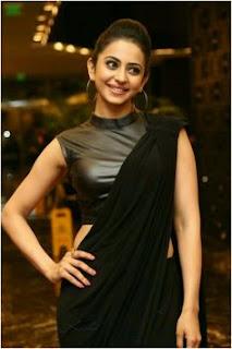 Rakul Preet Singh hot in black saree