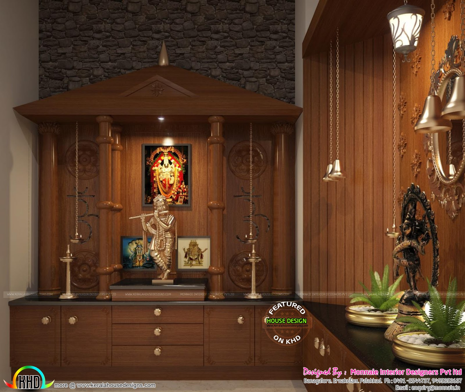 interior design of pooja room