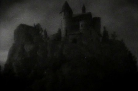 Dracula's Castle from Dracula (1931) Matte Painting