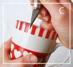 como decorar una taza para regalar