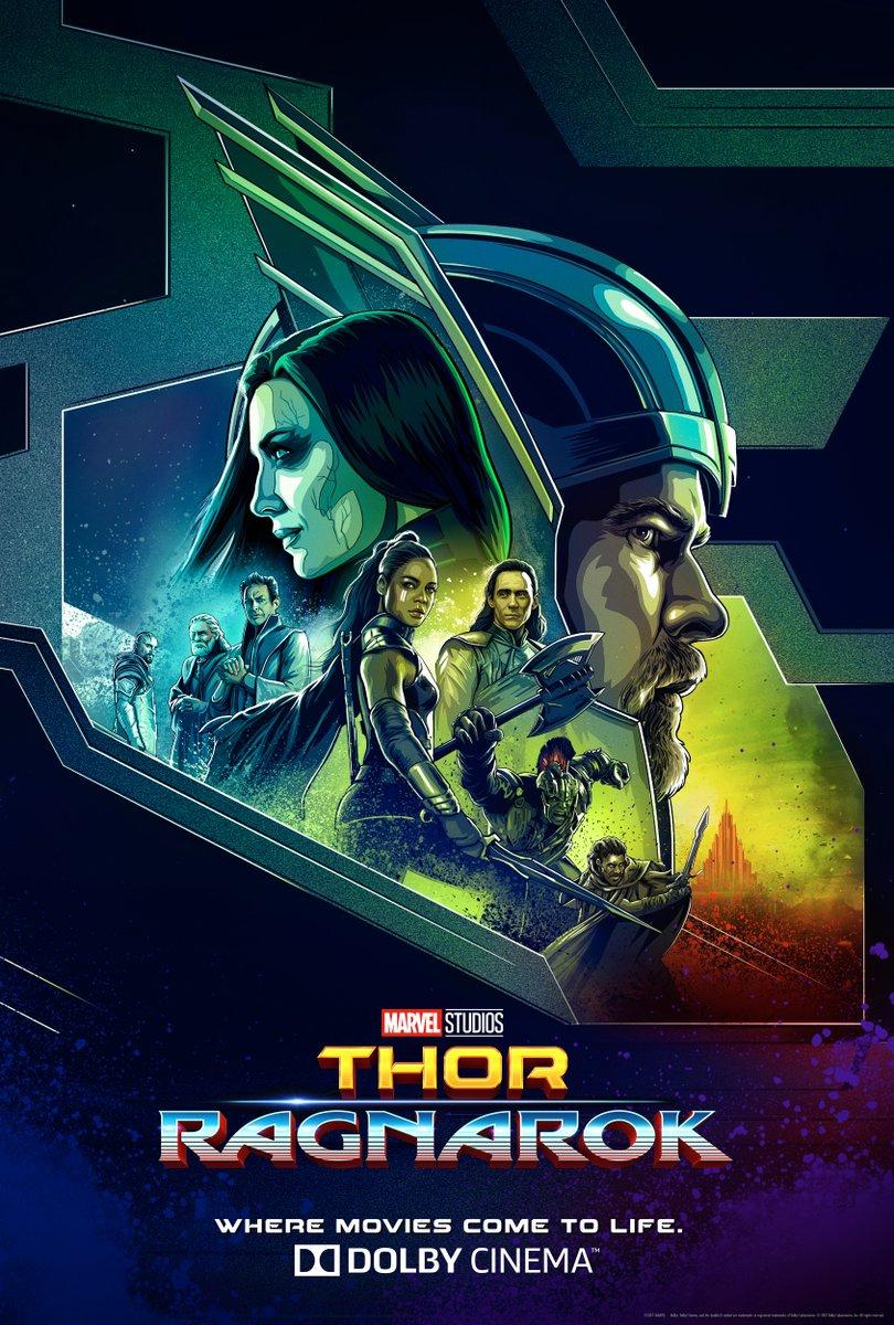 Marvel Thor Ragnarok Dolby poster