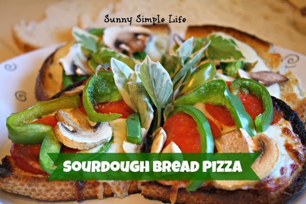 sourdough bread pizza, easy weeknight dinner, homemade pizza