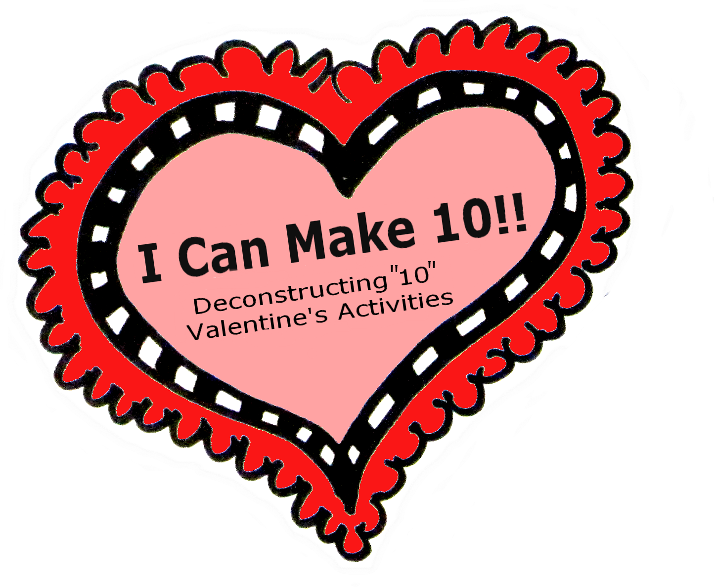 Valentines Math Freebie Decomposing 10