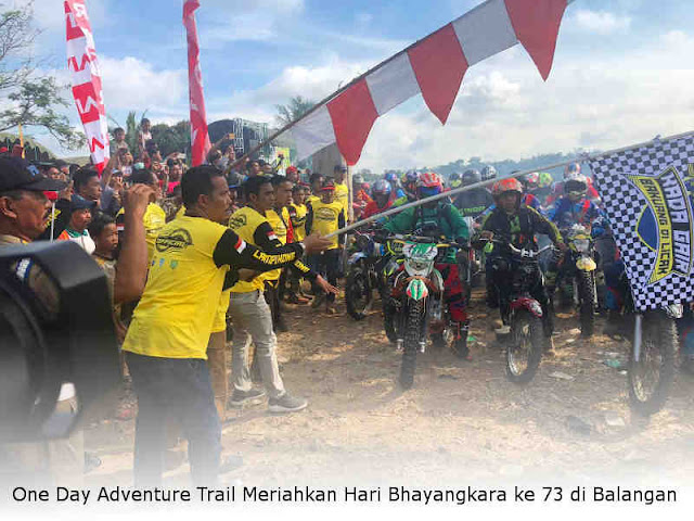 One Day Adventure Trail Meriahkan Hari Bhayangkara ke 73 di Balangan