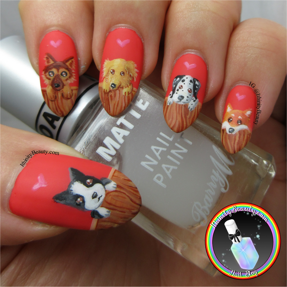 Freehand Puppy Nail Art Design Ithinitybeauty Nail Art Blog
