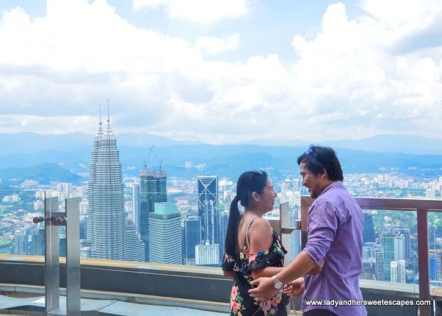 Ed and Lady in KL Tower