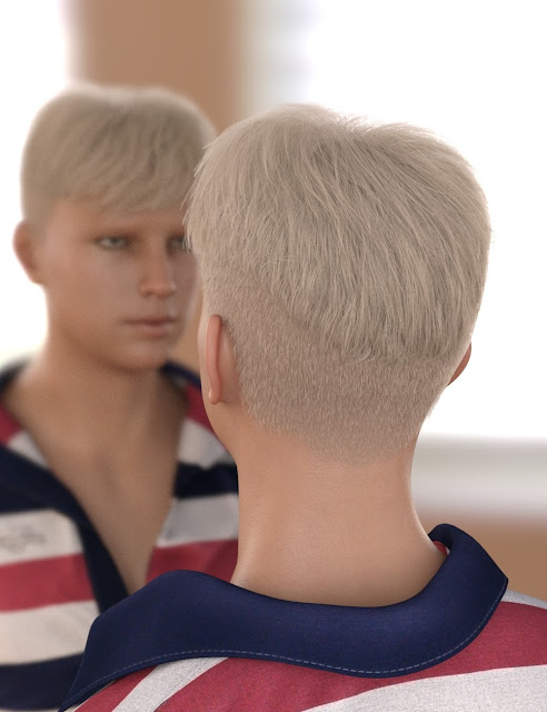 Youngblood Hair for Genesis 3 and 8