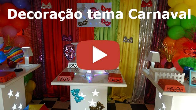 Festa  de adolescentes e adultos - Decoração de mesa tema Carnaval