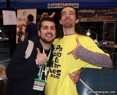 Alfonso y Pablo, foto broma ;-P