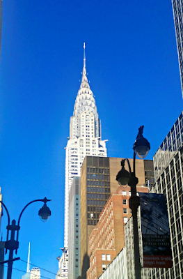 Chrysler building with blue sky