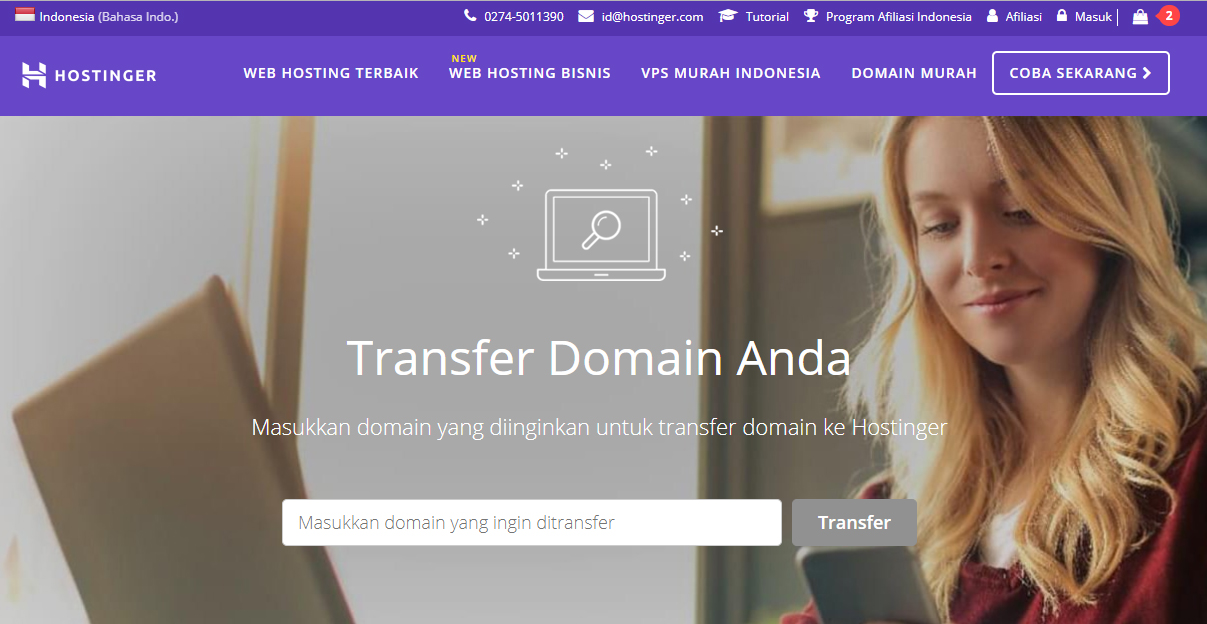 transfer domain Hostinger