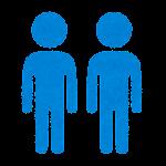 性別記号のイラスト(男性・男性のマーク)