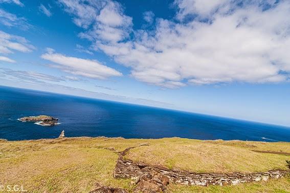 Fotografia desde la isla de Rapa Nui