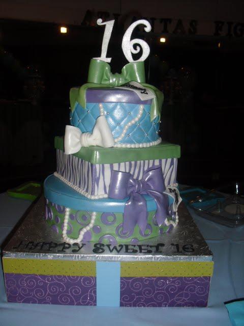 Made Fresh Daily Sweet Sixteen Gift Box Cake