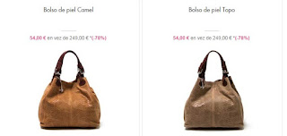 bolsos de piel colores camel y topo