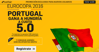 betfair Portugal gana Hungria supercuota 5 Eurocopa 2016 22 junio