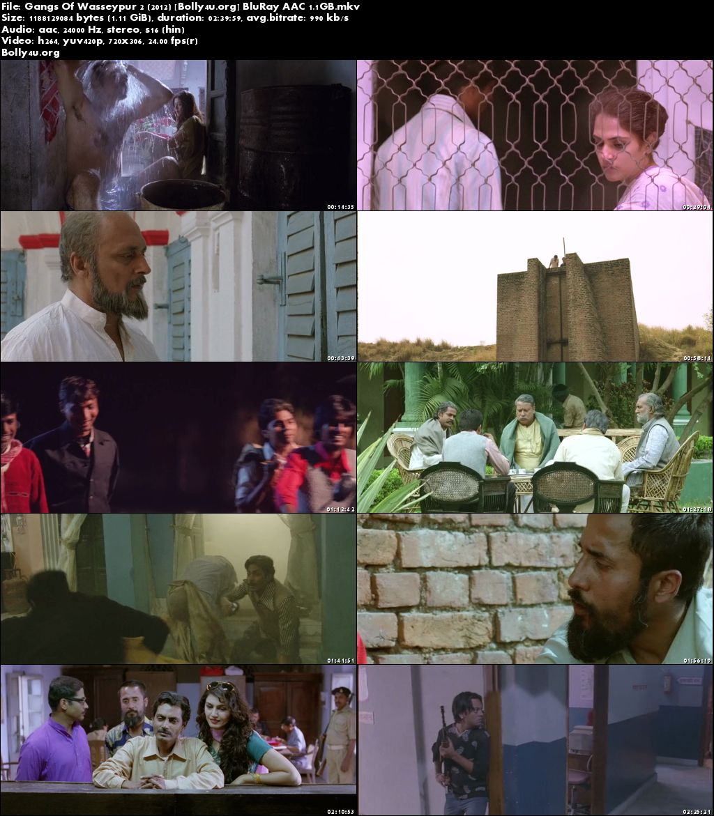 Gangs Of Wasseypur 2 2012 BluRay 450MB Full Hindi Movie Download 480p