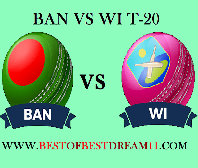 Ban vs WI dream 11 team