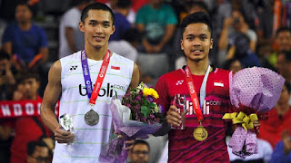 Live Streaming Anthony Ginting vs Jonathan Christie