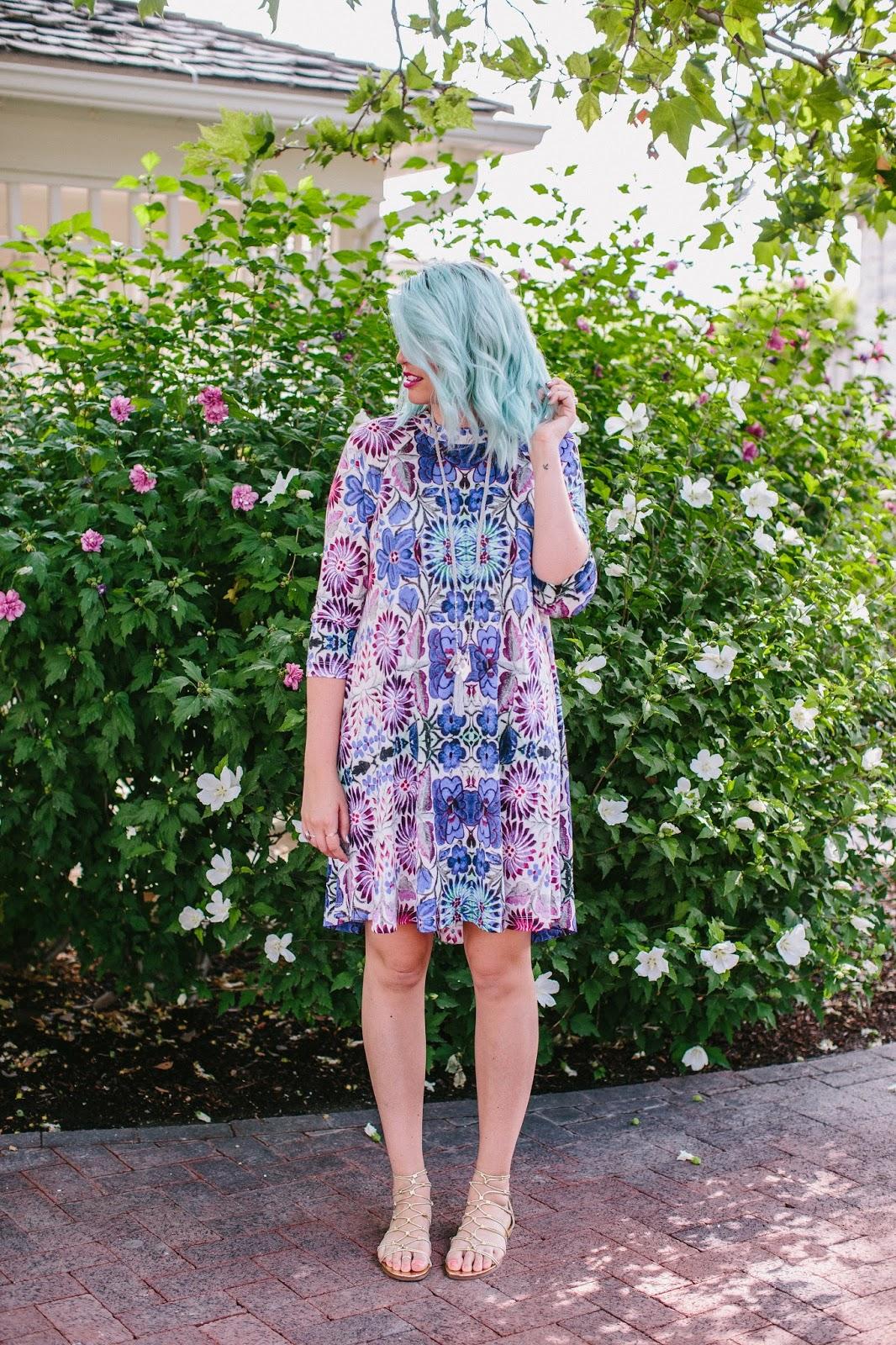 Bright dress, fun dress, Utah Fashion Blogger
