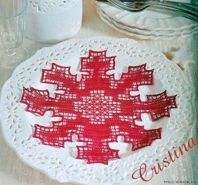 wzory szydełkowe świąteczne