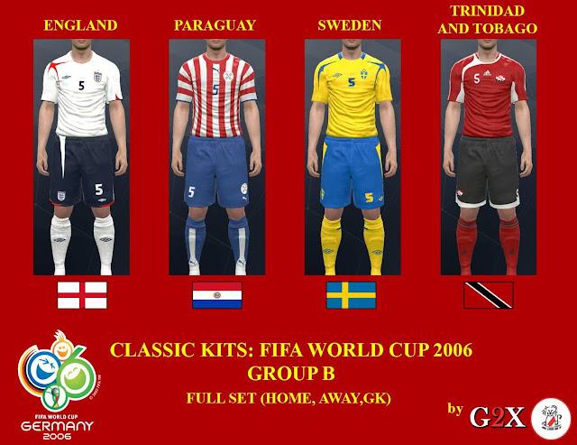 PES 2017  PC PS4  FIFA World Cup 2006 Group-B Kits-Pack. CREDITS  G2X 3792712a7