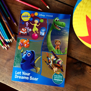 pixar sticker coloring book