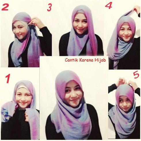Jilbab Segi Empat Pipi Tembem Hijab Batik