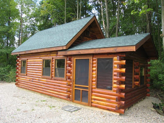 Cedar Cottage Cabin Kit, Prefab Log Cabin Kits, Log Home Financing,