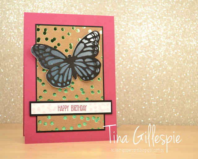 scissorspapercard, Stampin' Up!, Just Add Ink, Foil Frenzy SDSP, Butterfly Framelits, Sunshine Sayings, No Bones About It, Butterfly Basics
