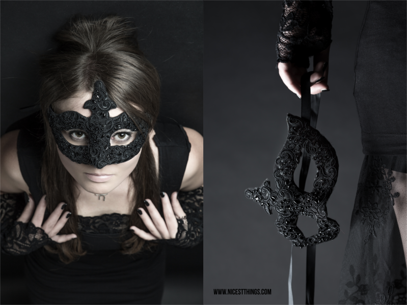 diy bat bow halloween kost m fotoshooting mit maske. Black Bedroom Furniture Sets. Home Design Ideas