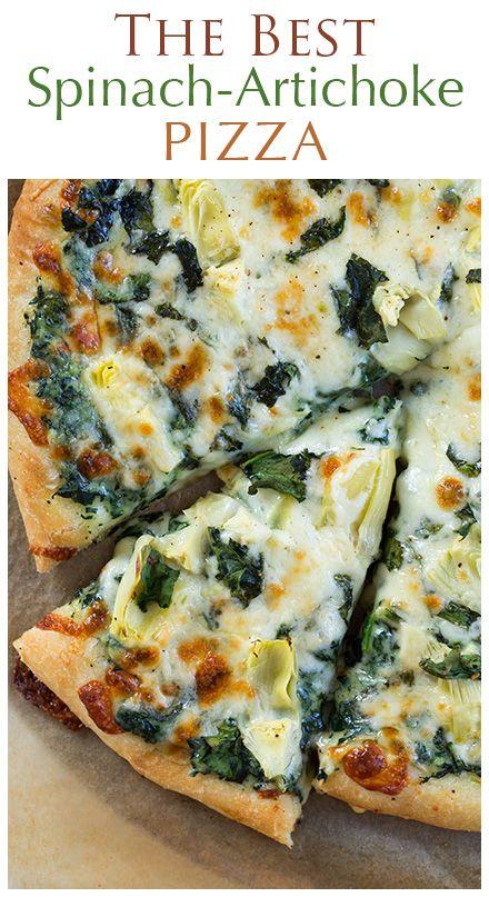 Spinach Artichoke Pizza #Spinach #Artichoke #Pizza #Spinach #Artichoke #Pizza #Healthy #Yummy