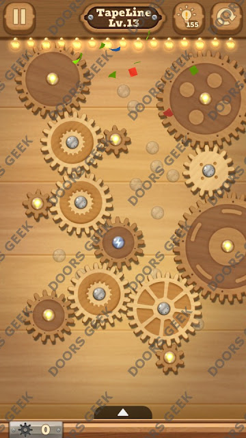 Fix it: Gear Puzzle [TapeLine] Level 13 Solution, Cheats, Walkthrough for Android, iPhone, iPad and iPod