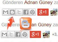 Blogger B paylaşım butonu nasıl gizlenir