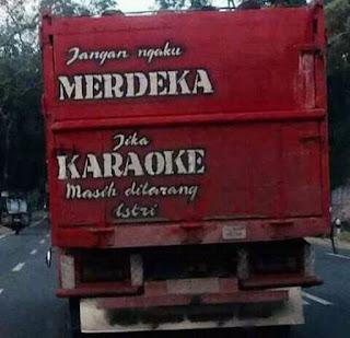 tulisan bak truk paling gokil lucu keren