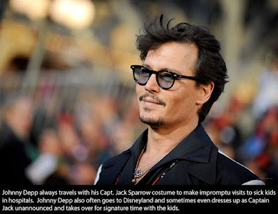 Loving Quotes that Will Restore: Johnny Depp always trawls with his Capt.