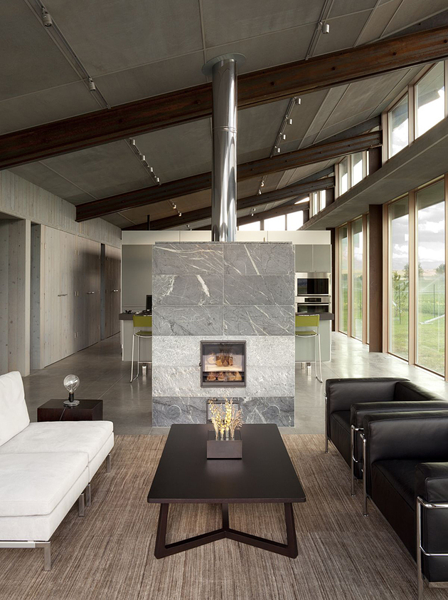 innovative modern living room fireplace | Innovative And Efficient Living Room Layout With A ...