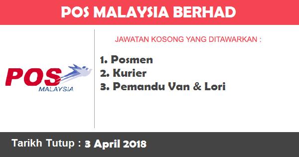 Jawatan Kosong di Pos Malaysia Berhad