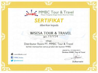 Sertifikat Distributor MMBC Wisesa Tour & Travel