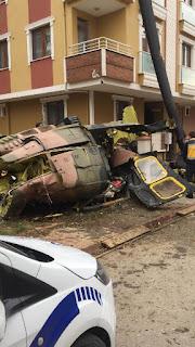 İstanbul Sancaktepe Mahallesine helikopter düştü