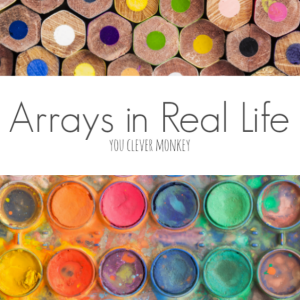Real Life Arrays - introduce the math concept of arrays with the help of real life examples of arrays. Teaching ideas and printable real life array posters | you clever monkey