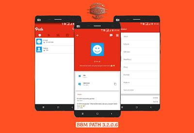 BBM Mod Path Theme 3.2.0.6 Jejaring Sosial Style