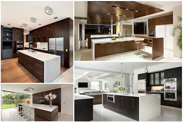 9 Elegant Kitchens Inspiration Combination of Dark and White Wood Choices