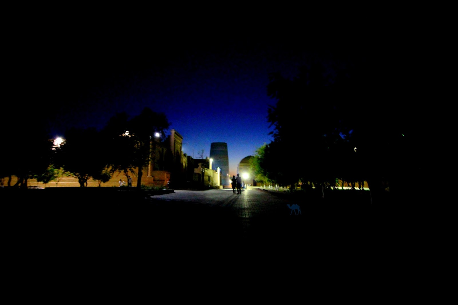 Le Chameau Bleu - Blog Voyage Ouzbékistan -  Itchan Kala de nuit - Séjour à Khiva OUzbékistan