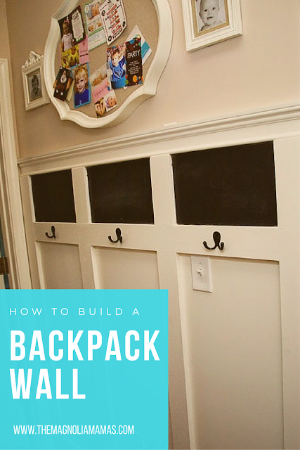 How to build a backpack wall. Quick and easy back pack wall design.