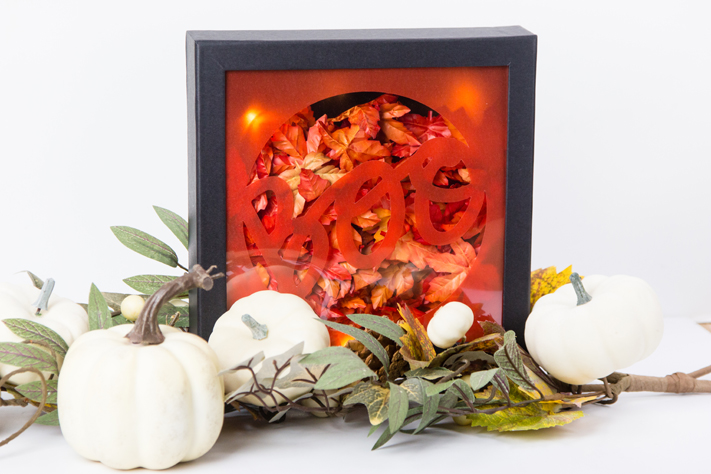 Halloween Marquee decor shadow box by @createoften for @heidiswapp